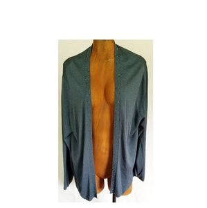 Eileen Fisher Cardigan Plus Size 2x Beaded Blue